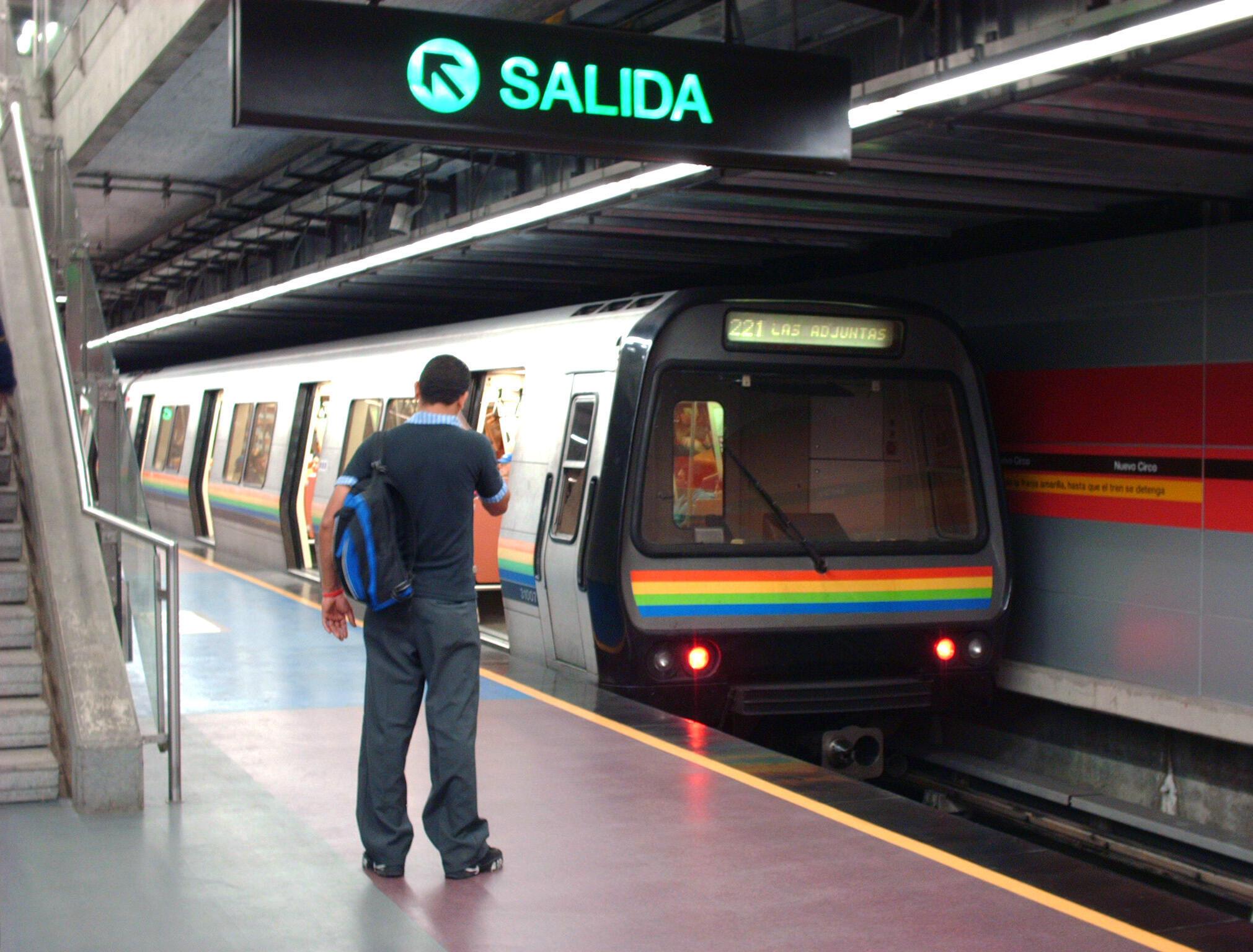 La station Nuevo Circo sur la ligne 4 du métro de Caracas, au Venezuela. (Image d'illustration)