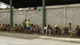Kiều dân Cuba bị kẹt lại tại La Cruz, gần biên giới Costa Rica