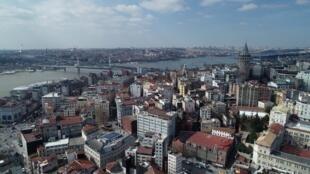 Mji wa Istanbul na wilaya ya Karaköy, Uturuki, Februari 26, 2020.