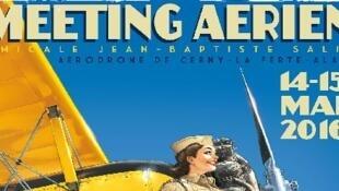L'affiche du meeting aérien de France à la Ferté-Alais.