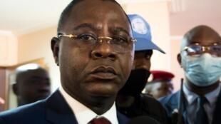Henri-Marie Dondra, Premier ministre de la Centrafrique, le 15 juin 2021