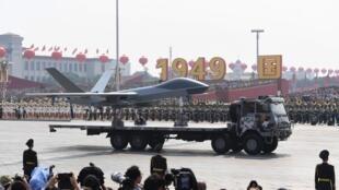 Présentation d'un drone militaire ce 1er octobre à Pékin.