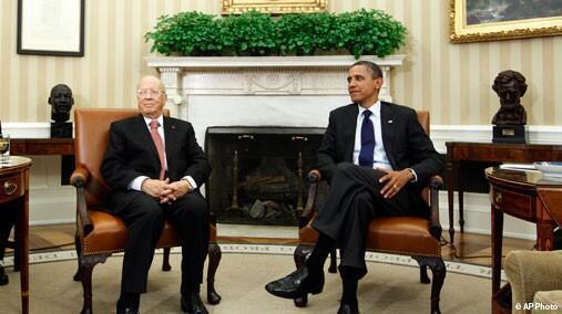 Tổng thống Obama tiếp thủ tướng Caid Essebsi tại Nhà Trắng (DR)