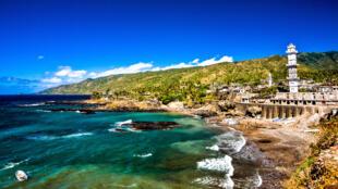 Vue de Domoni, aux Comores.