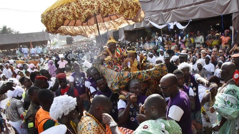 Awoulae Tanoé Amon, roi de Grand Bassam et du peuple des N'Zima Kotoko.