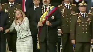 """被指委內瑞拉總統馬杜羅遭遇""""無人機""""襲擊瞬間"""