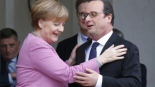 Le président français François Hollande et la chancelière allemande Angela Merkel, le 4 mars 2016 à l'Elysée.