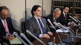 Mark Karpeles at a press conference in Tokyo, 28 February 2014