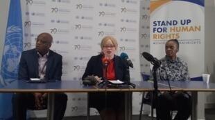 L'experte indépendante de l'ONU sur l'albinisme, Ikponwosa Ero, en Afrique du Sud, le 26 septembre.