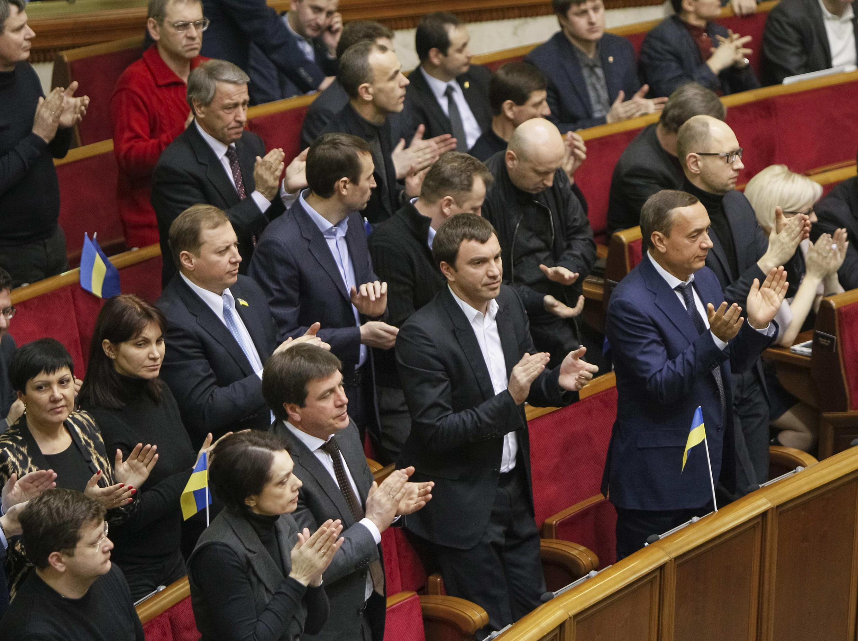 Au Parlement ukrainien, le 28 janvier 2014.