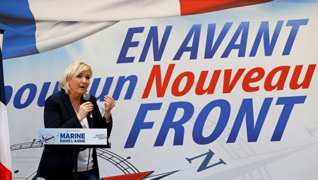 Marine Le Pen jam'iyyar adawa ta National Front, kuma tsohuwar 'yar takarar shugabancin Faransa a zaben 2017.