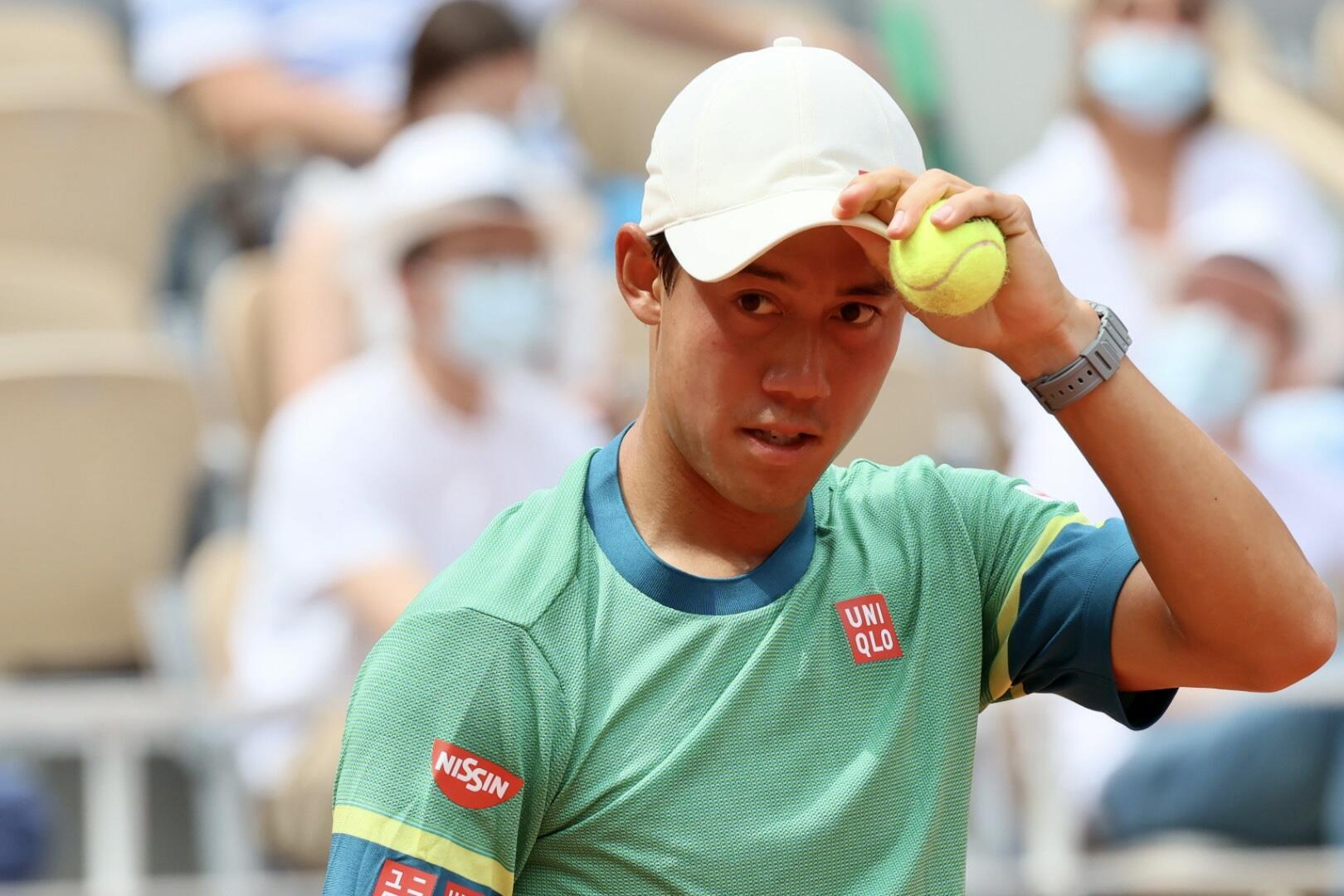 Kei Nishikori, a former world number four, advanced to the third round at the French Open after a five set victory over the 23rd seed Karen Khachanov.