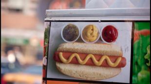 Un hot dog.