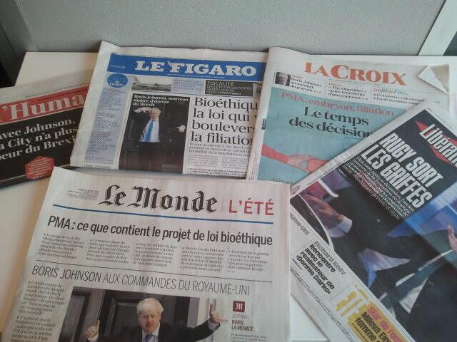 Primeiras páginas dos jornais franceses 24 de julho de 2019
