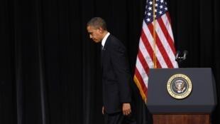 Le président américain Barack Obama lors de son discours à Newtown, le 16 décembre 2012.