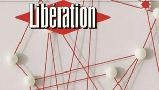 Détail de la Une du journal Libération, du 14 mai 2020, jour où le groupe Altice France a annoncé de céder le titre à un fonds de dotation.