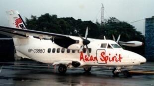 Mfano wa ndege aina ya Let 410 iliyotengenezwa nchini Jamhuri ya Czech tarehe 7 Desemba 1999.