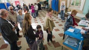 Голосование на выборах во Франции
