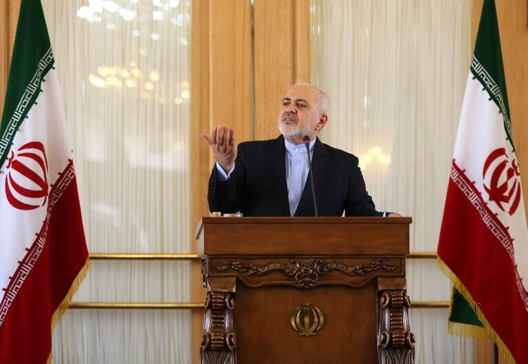 Ngoại trưởng Iran Mohammad Javad Zarif họp báo tại Teheran, ngày 13/02/2019.