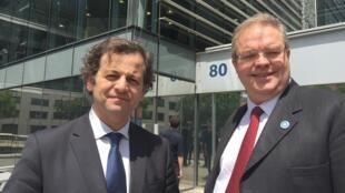 Mario Costa, presidente da União dos Exportadores da CPLP e Bertrand Dupont, representante da Confederação dos Empresários e da União dos Exportadores da CPLP