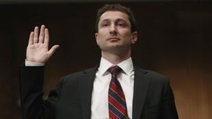 Fabrice Tourre is sworn in before a US Senate subcommittee hearing