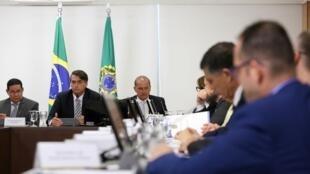 Presidente da República, Jair Bolsonaro, durante reunião do Conselho de Governo. 19/02/19