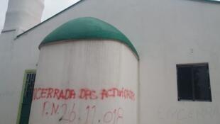 Mesquita encerrada na Lunda Norte, em Angola.