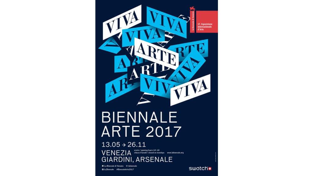 Affiche de la 57e Biennale de Venise.