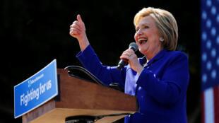 Hillary  Clinton, candidata democrata à eleição presidencial  americana de 2016