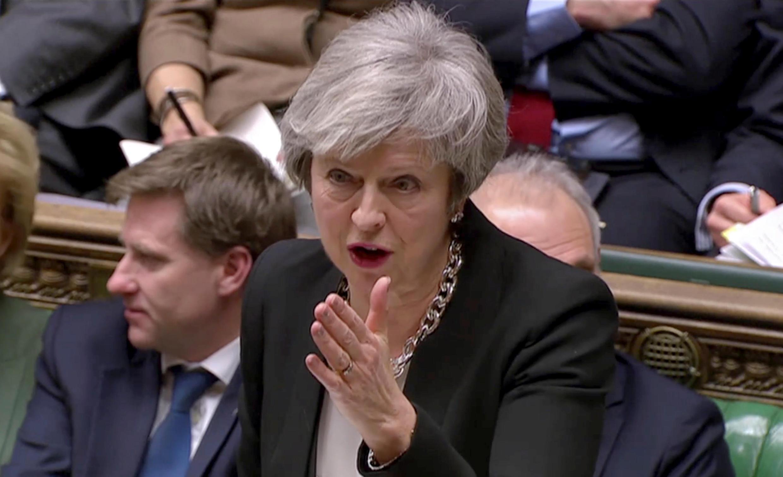 Waziri mkuu wa Uingereza, Theresa May akizungumza kwenye bunge la nchi hiyo hivi karibuni.