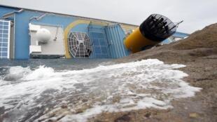 O navio Costa Concordia pode afundar completamente a qualquer momento, na costa oeste da Itália.