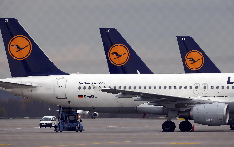 Centenas de aviões da Lufthansa não vão decolar por causa da greve.