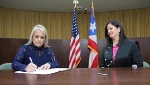 Juramentación de Wanda Vázquez como gobernadora de Puerto Rico.