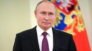 El presidente de Rusia, Vladimir Putin, el 27 de marzo de 2021 en Moscú