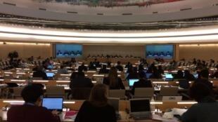 Vista de la reunión del Grupo de Trabajo Intergubernamental del Consejo de Derechos Humanos de la ONU en Ginebra, el 27 de octubre de 2016.