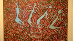 Photo d'une oeuvre présentée lors de l'exposition «Congo» à Anvers en Belgique.