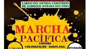 Cartaz da marcha do Movimento independentista de Cabinda, que devia ocorrer a 1 de fevereiro, mas impedida pela polícia angolana