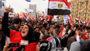 Place Tahrir au Caire, en novembre 2011.