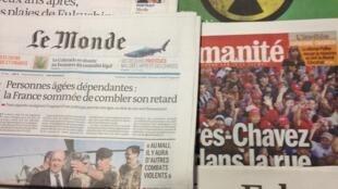 Primeiras páginas diários franceses 11/3/2013