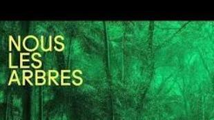 Affiche de l'exposition Nous les arbres qui se tient à la Fondation Cartier à Paris.