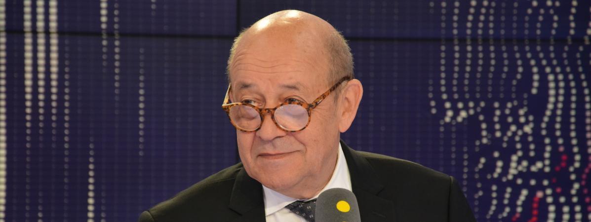 Ministan harakokin wajen Faransa  Jean-Yves Le Drian, a 1 ogusta  2018.