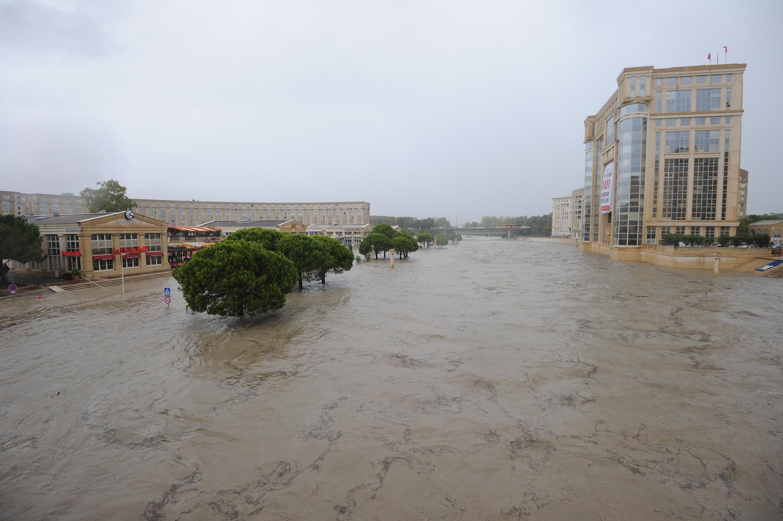 Montpellier under water on Monday