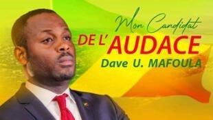 Affiche de campagne du candidat congolais Dave Mafoula du parti Les Souverainistes.