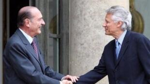 希拉克和德维尔潘在巴黎 (2007年5月15日)
