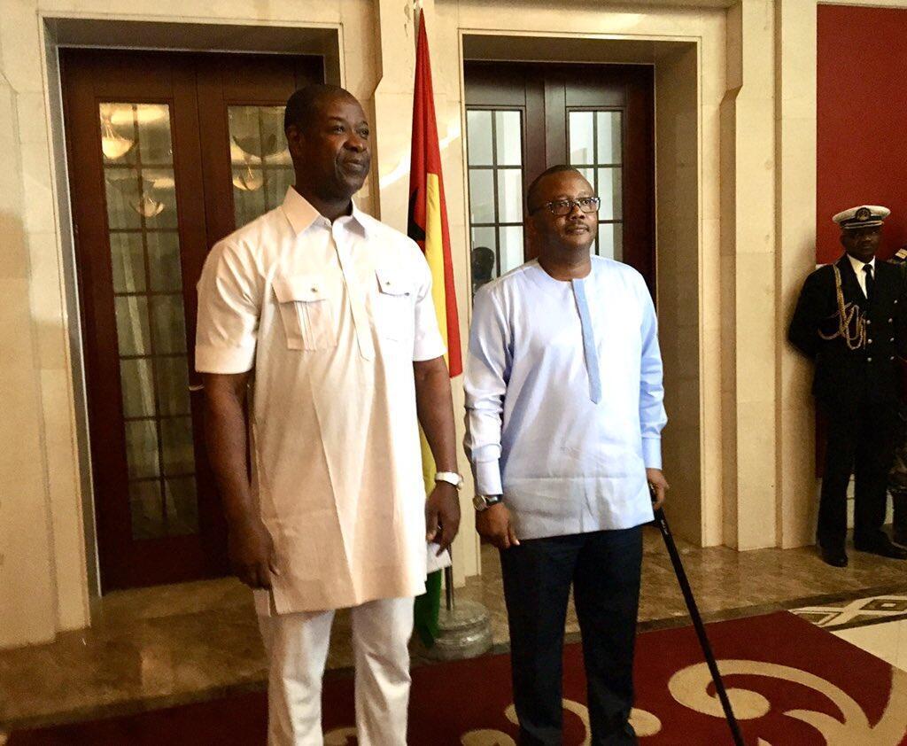 Chefe de Estado Umaro Sissoco Embalo e Nuno Nabian, primeiro-ministro guineense.