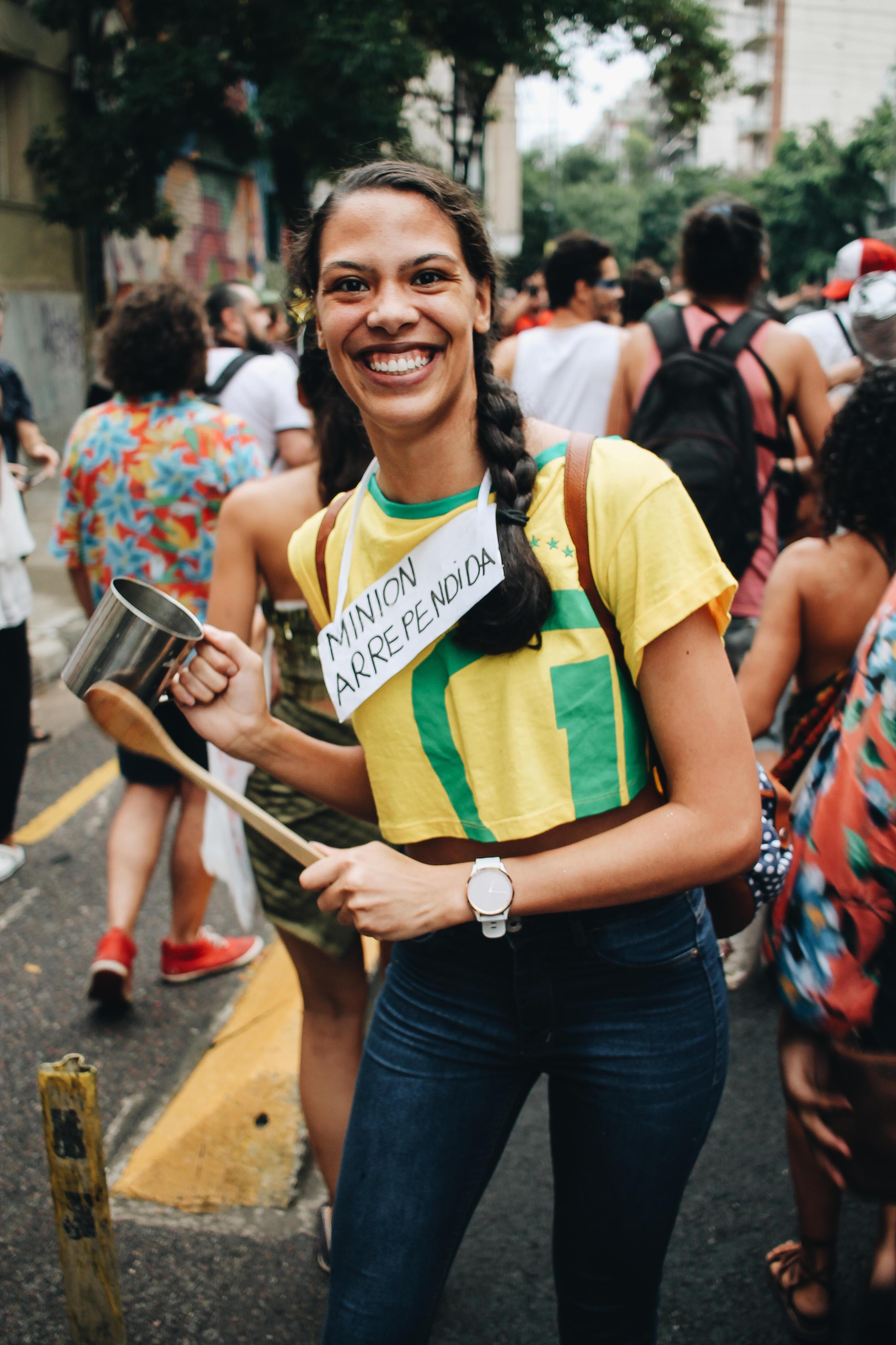 Foliã no bloco Cordão de Prata, em Buenos Aires.