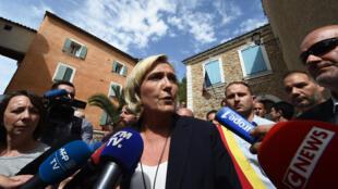 Marine Le Pen, il y a quelques jours à Chateaudouble, dans le sud de la France.