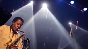 Le saxophoniste américain Wayne Shorter au Jazz in Marciac (2005).