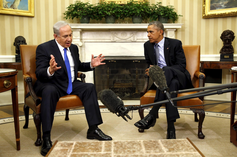 奥巴马与内塔尼亚胡在白宫 2015年11月9日