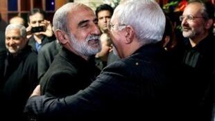 محمدجواد ظریف و حسین شریعتمداری.